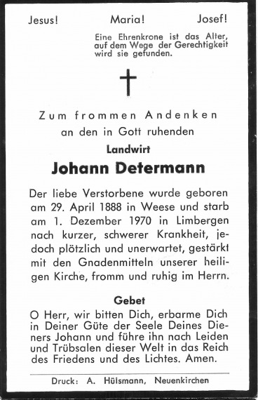 Johann Joseph Determann