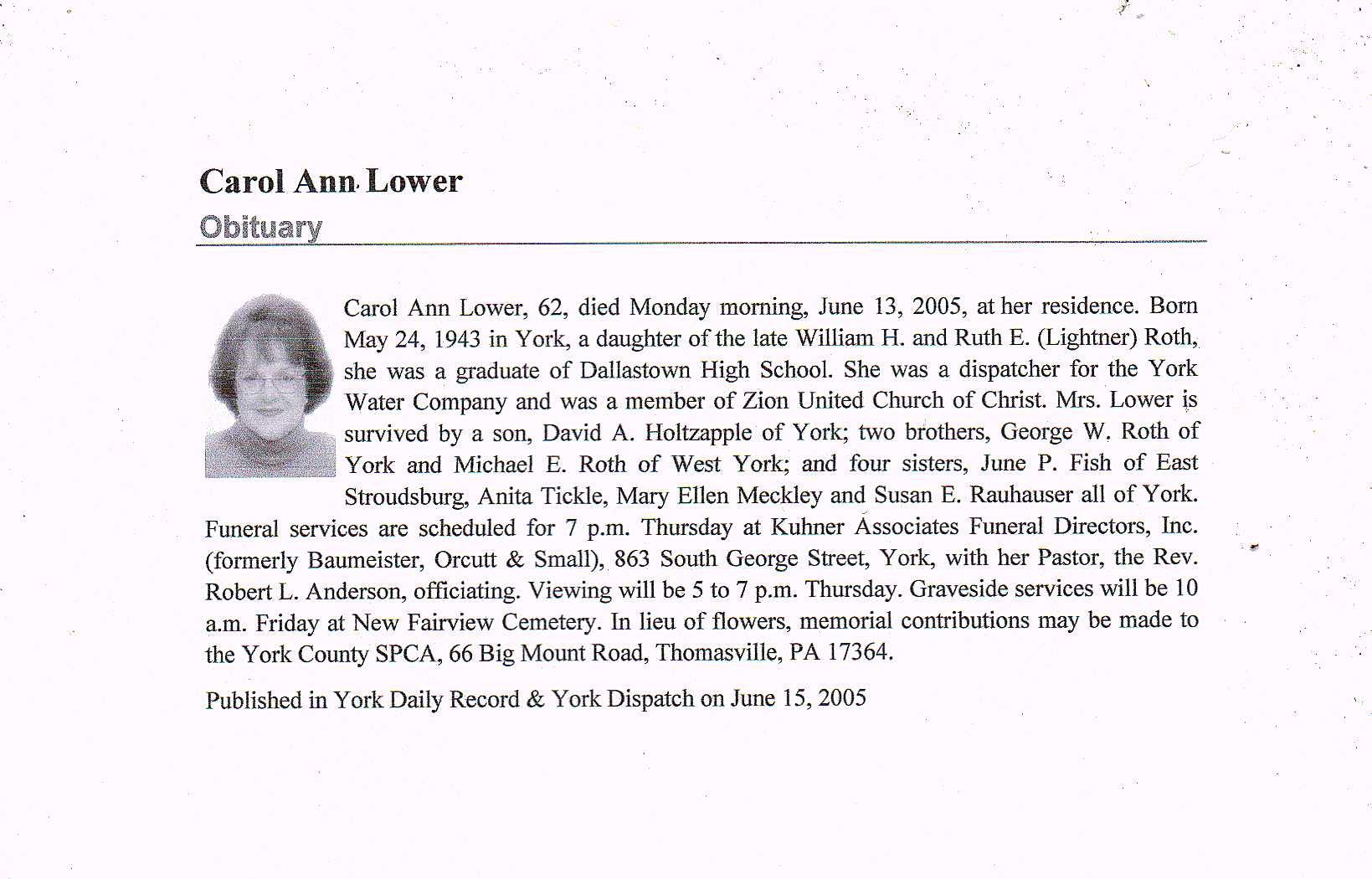 Carol Ann Roth