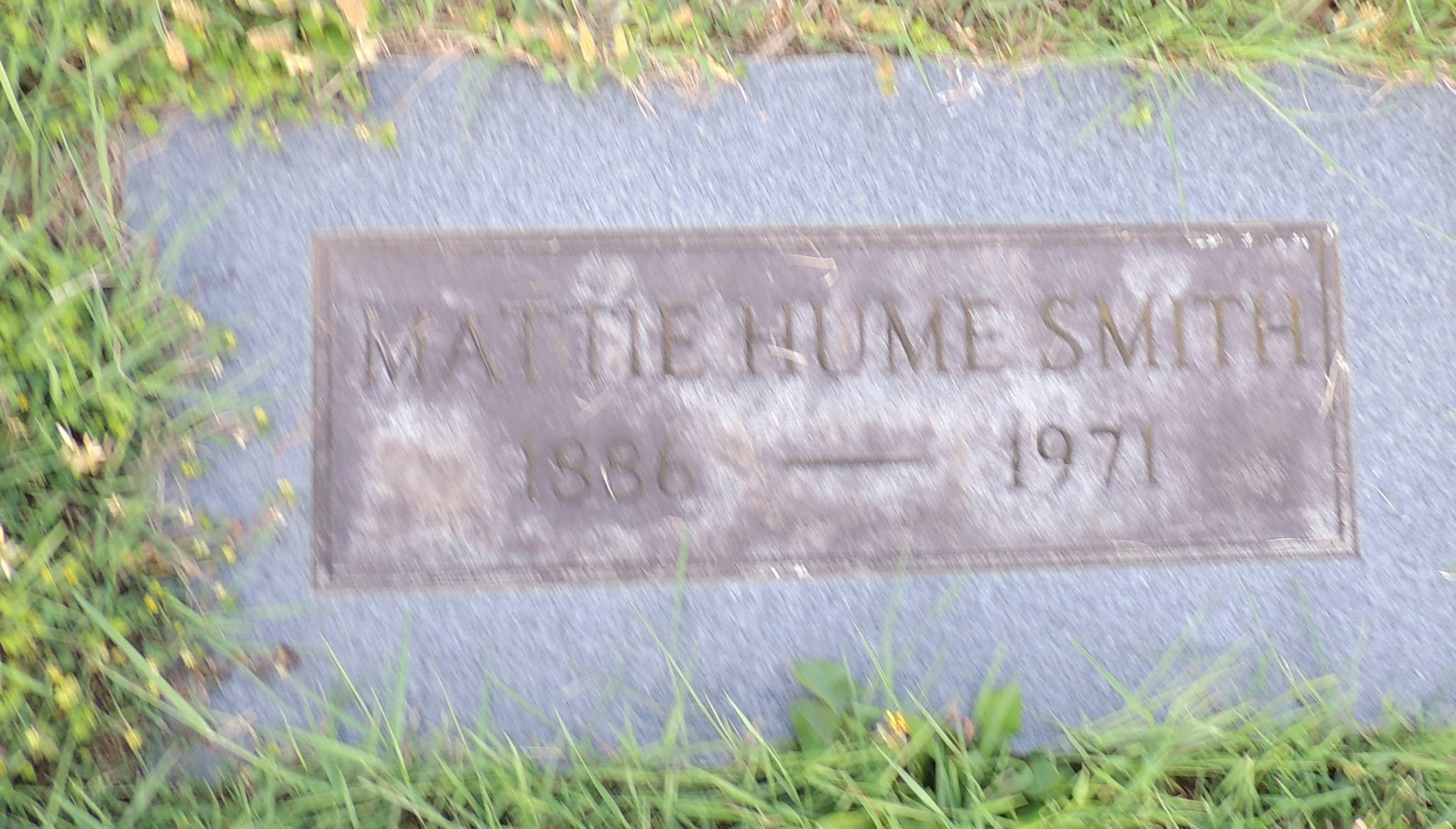 Mattie May Hume