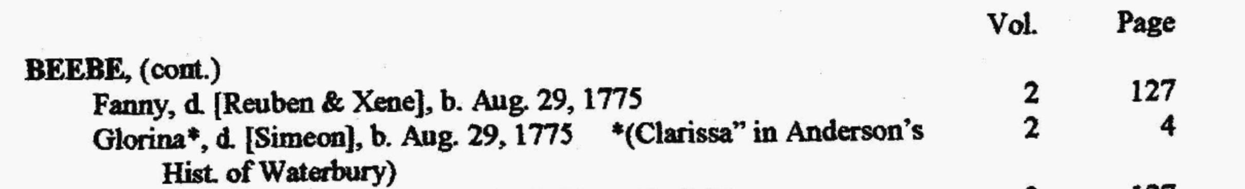 Clarissa Beebe
