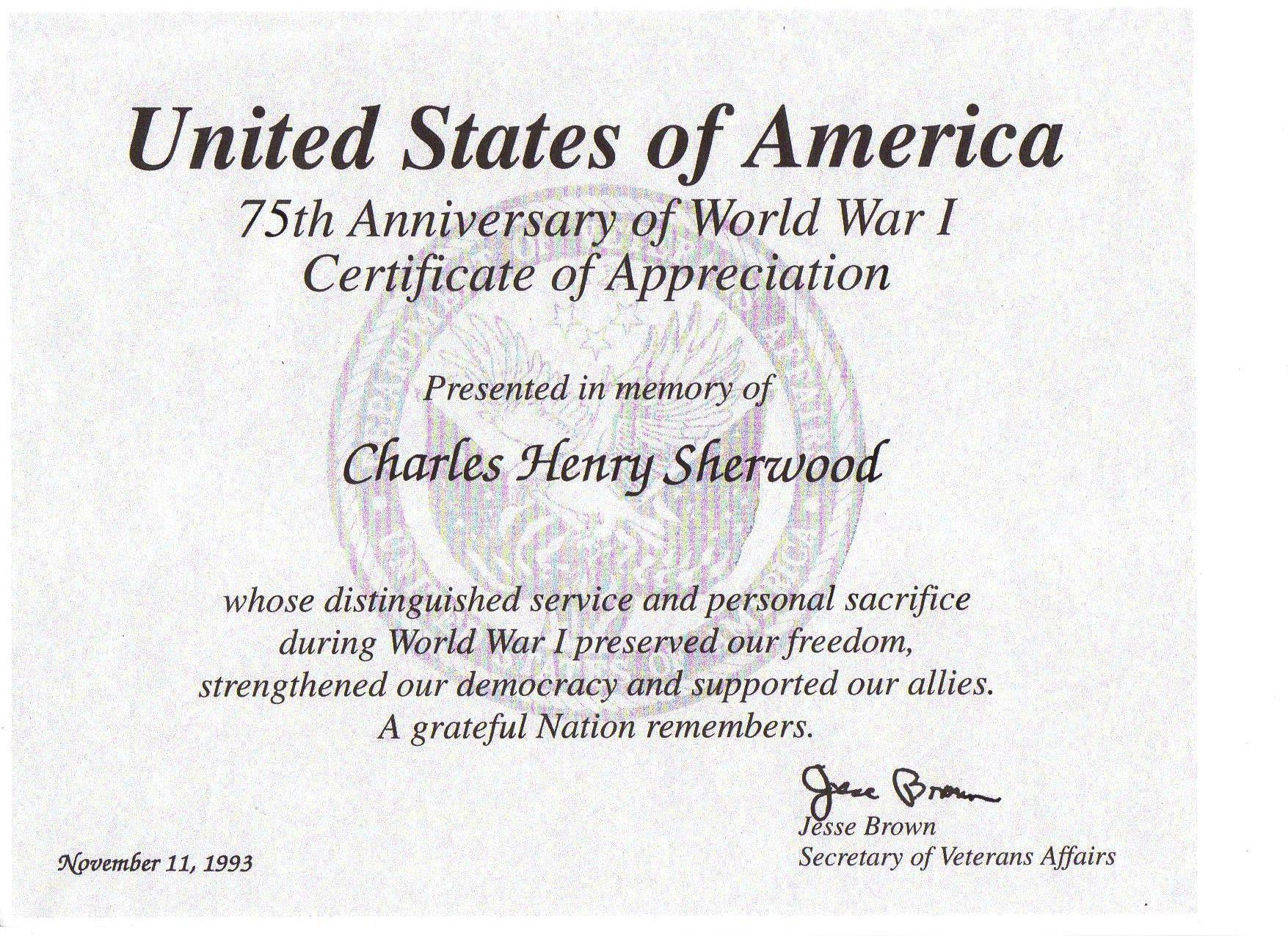 Charles H Sherwood