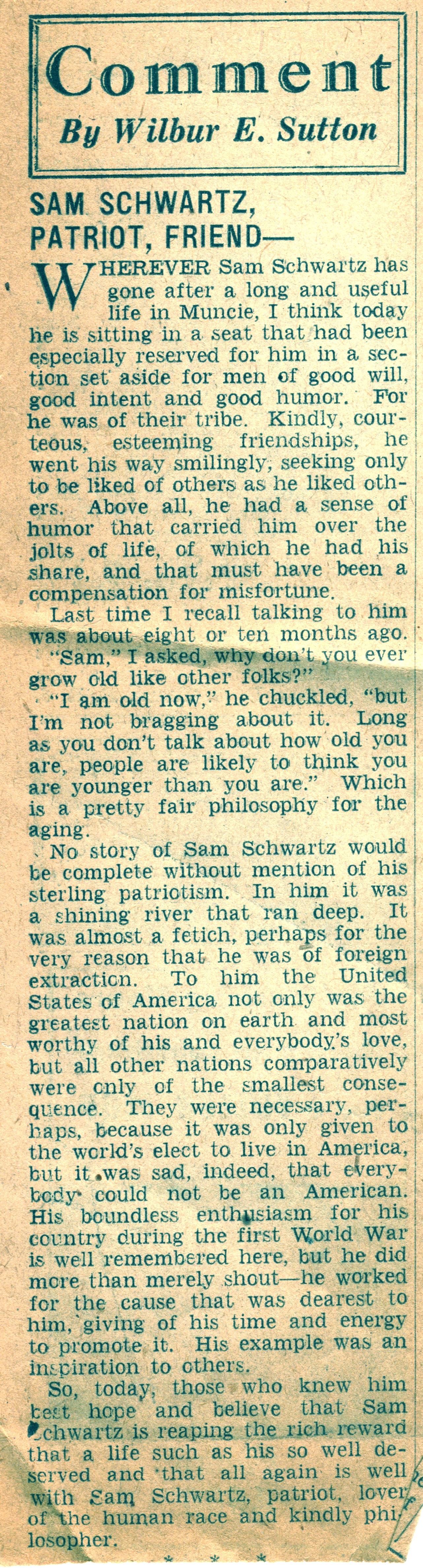Samuel Sam Schwartz