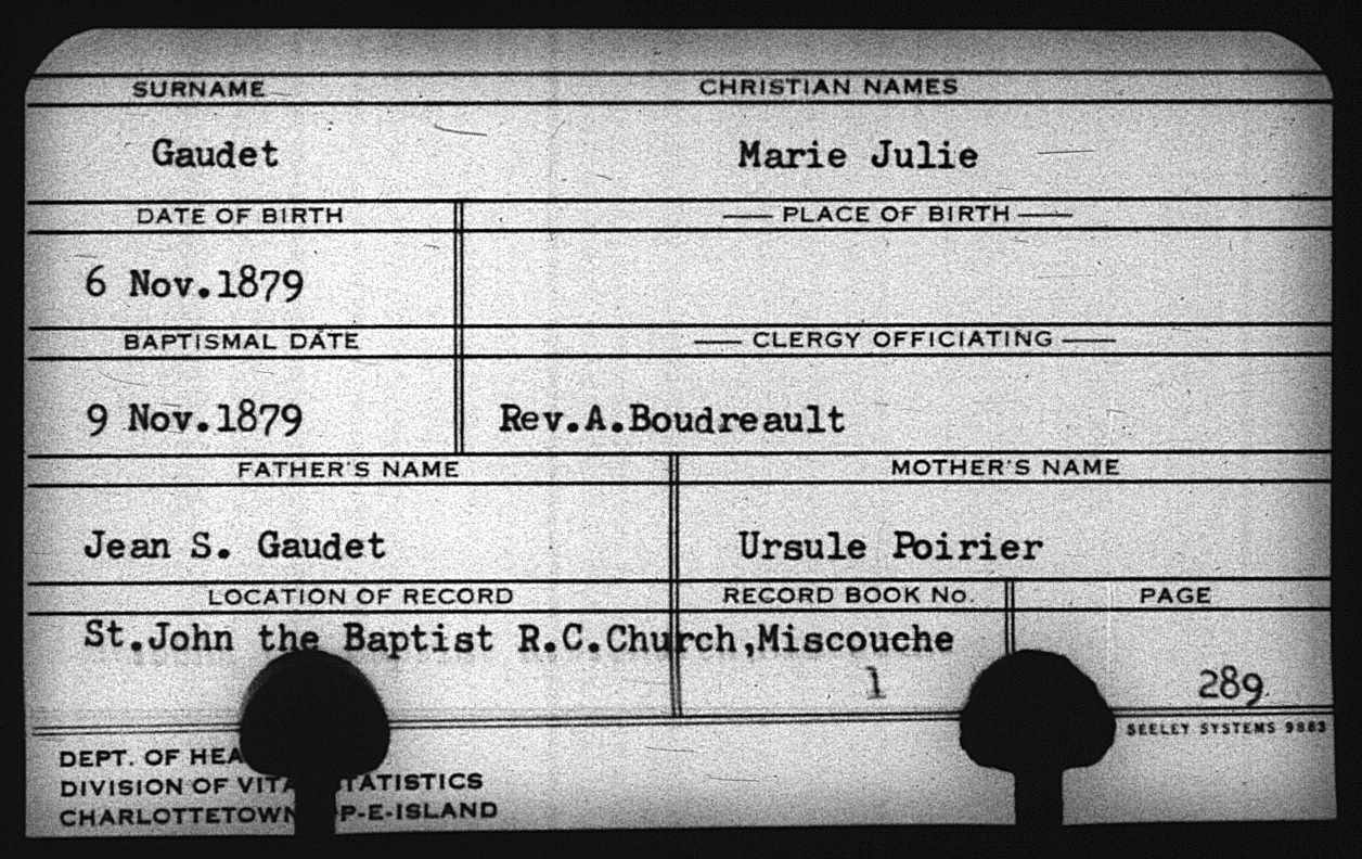 Marie Eliza Gaudet