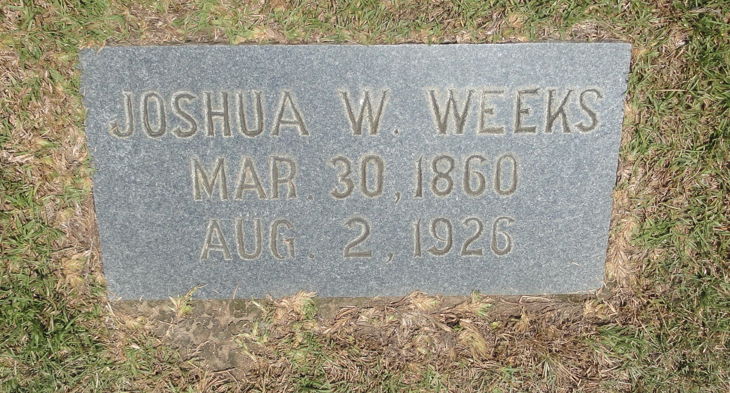 Joshua Wingate Weeks