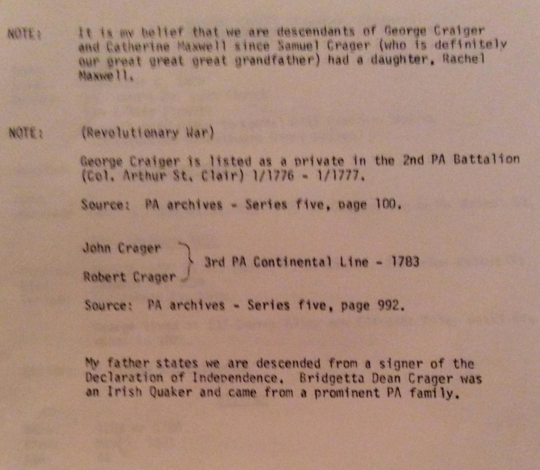 George C Crager