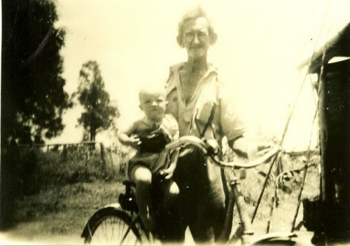 Herbert John Perry with Grandson Frank