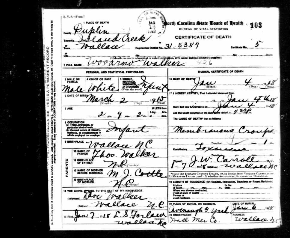 Woodrow Wilson Walker