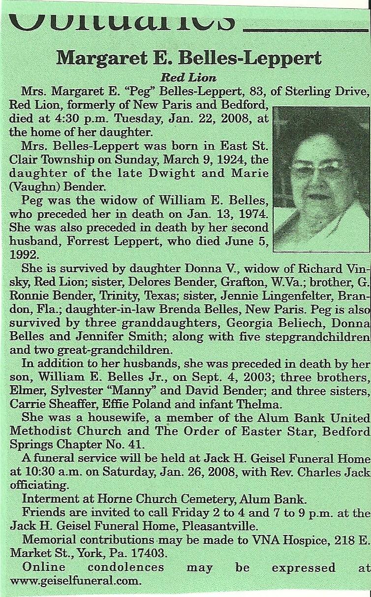 Margaret Eva Bender