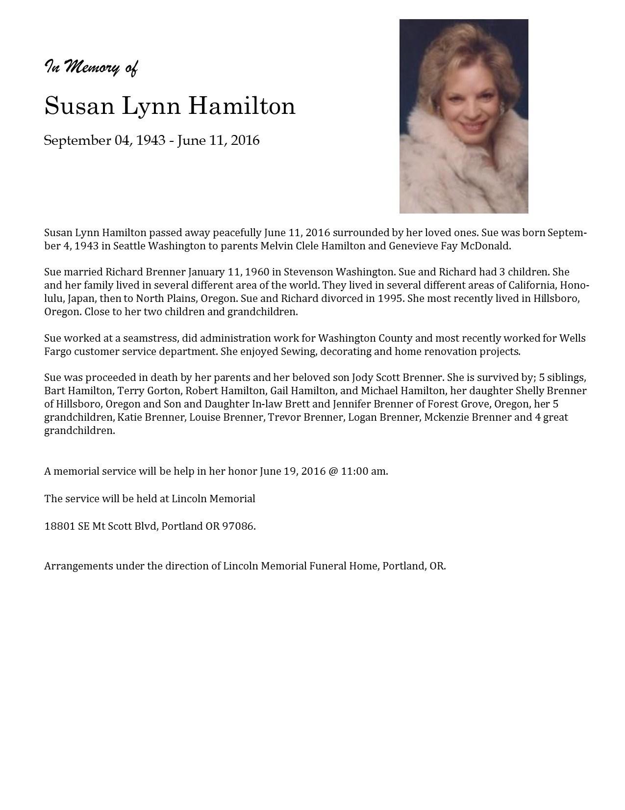 Susan Lynn Hamilton