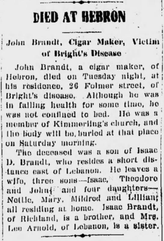 John B Brandt