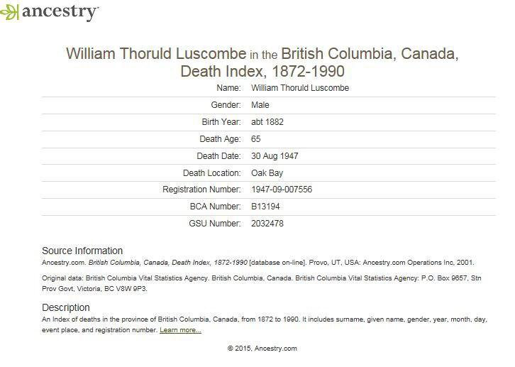 William Henry Luscombe