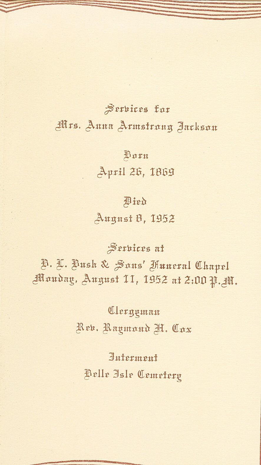 Anna Mary Armstrong