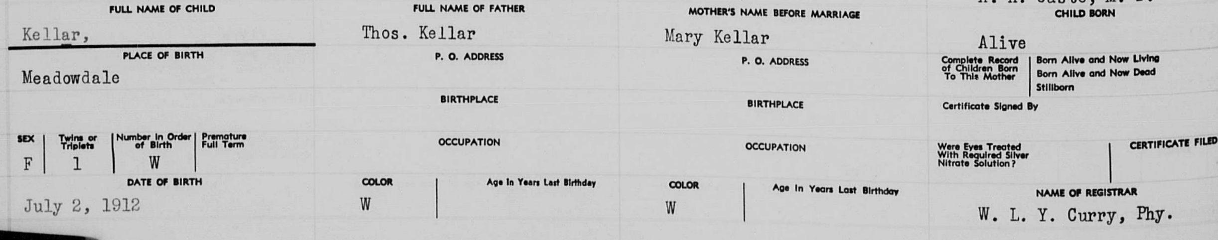 Mary Agnes Keller