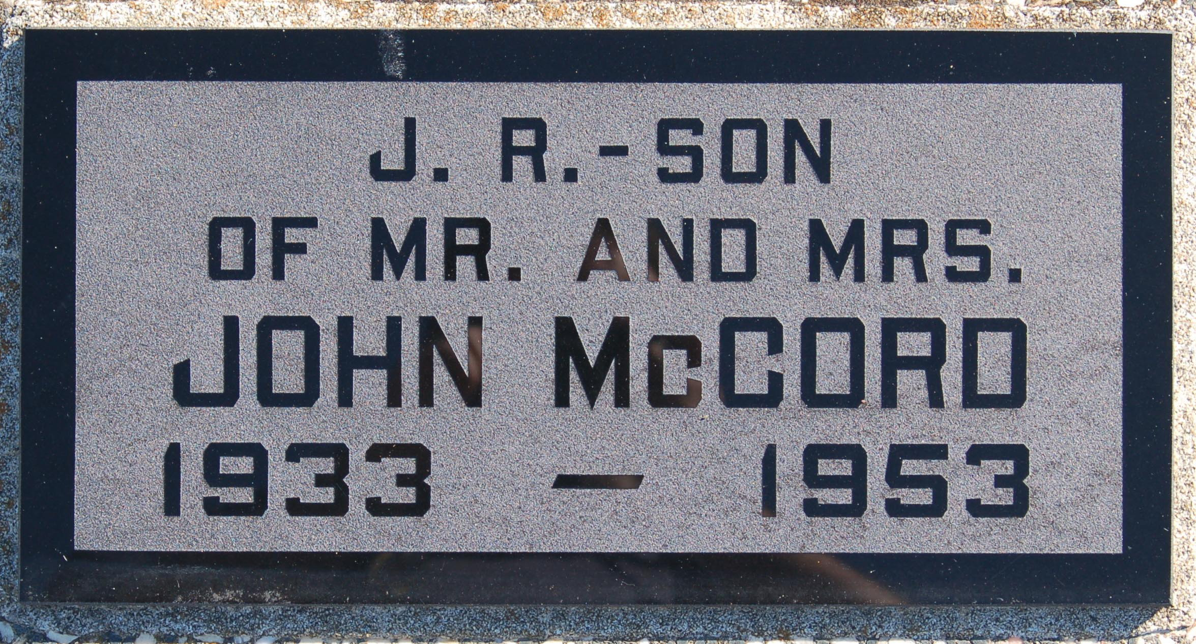 John J Mccord