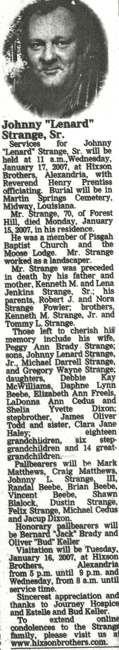 Johnny Erwin Strange