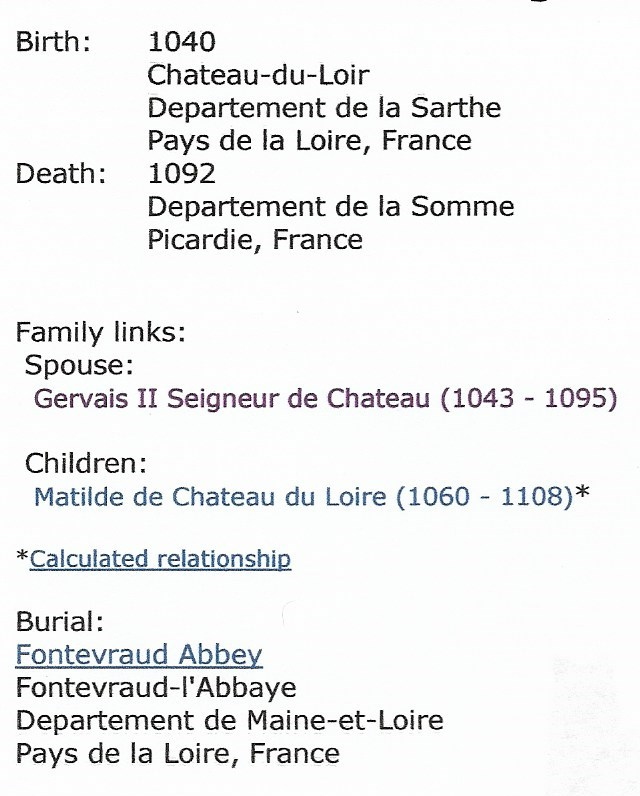 Erenburg De Chateau Du Loire