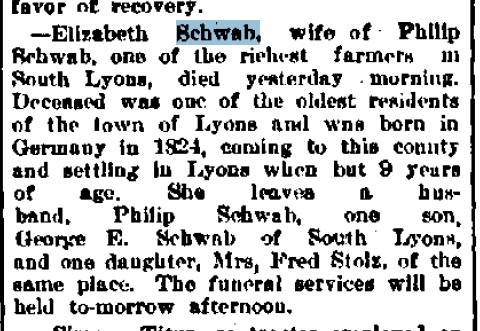 Elizabeth A Schwab