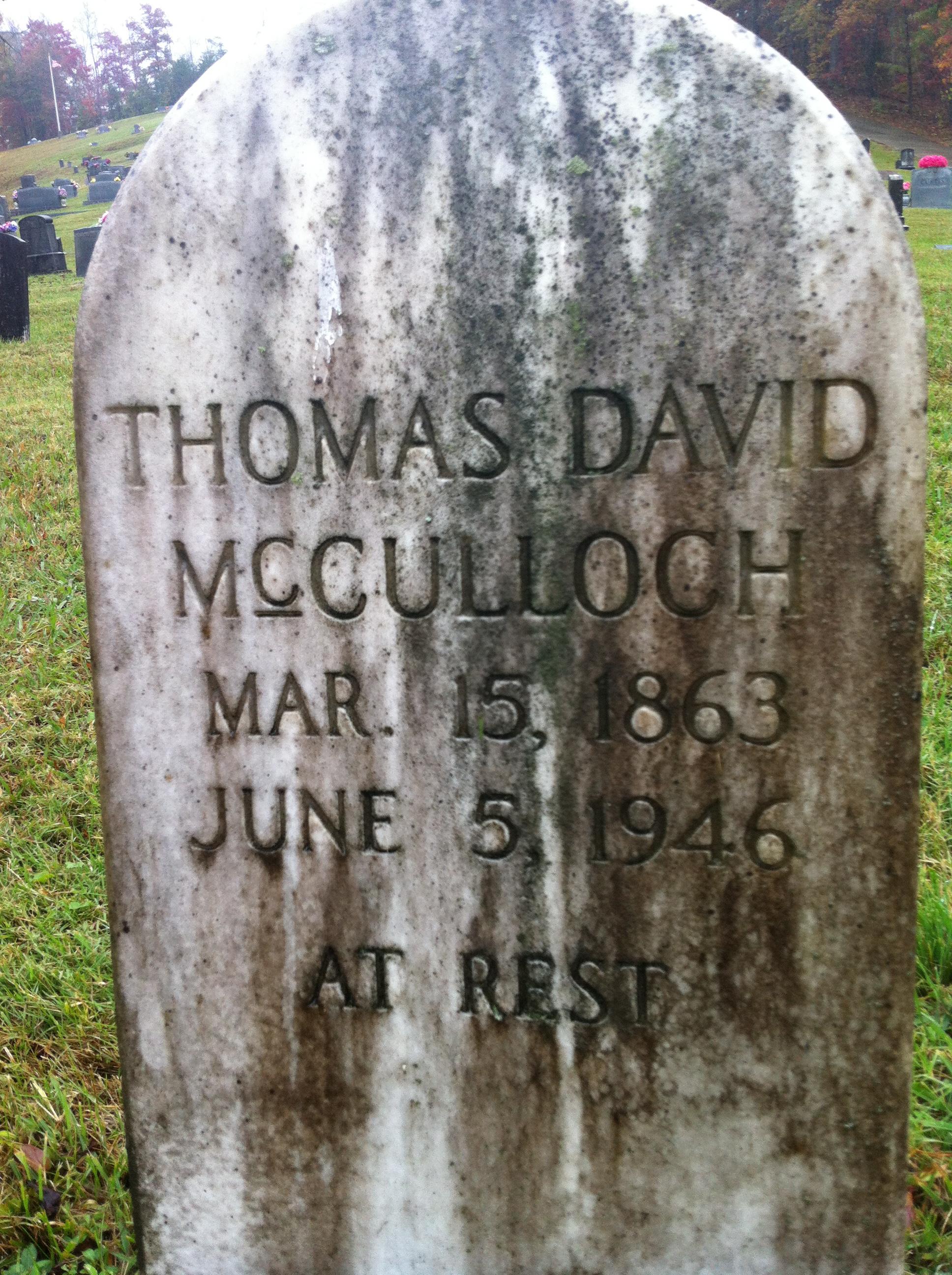 Thomas David Mcculloch