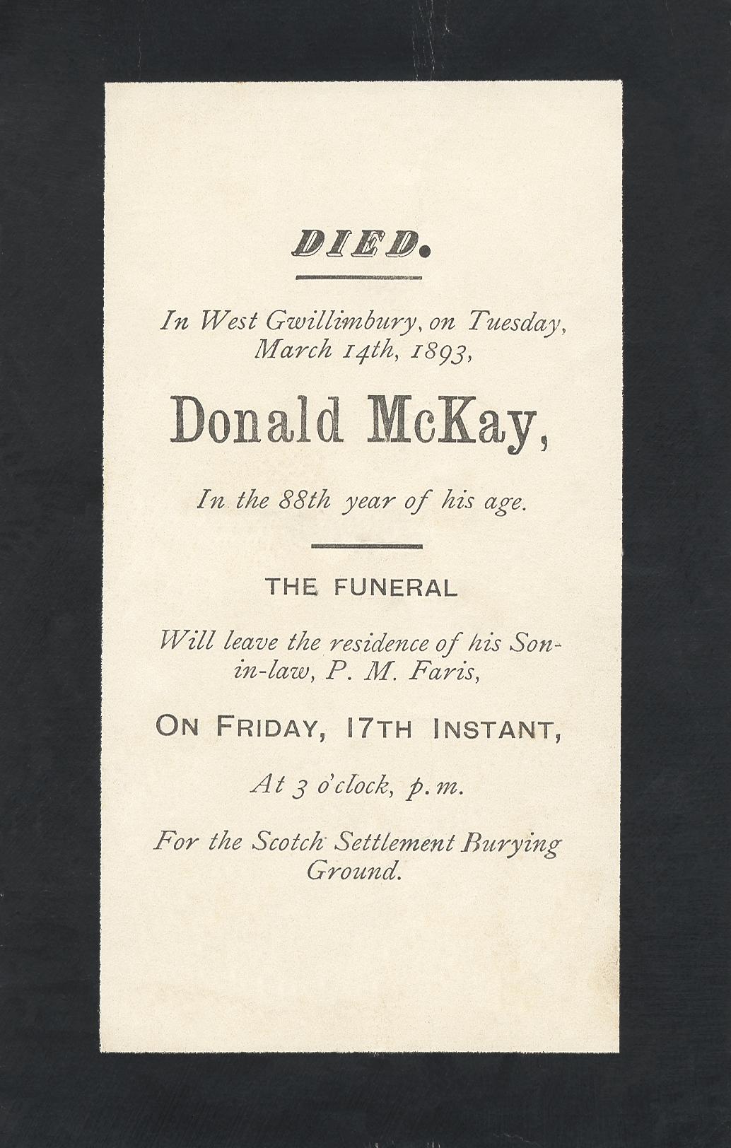 Donald McKay