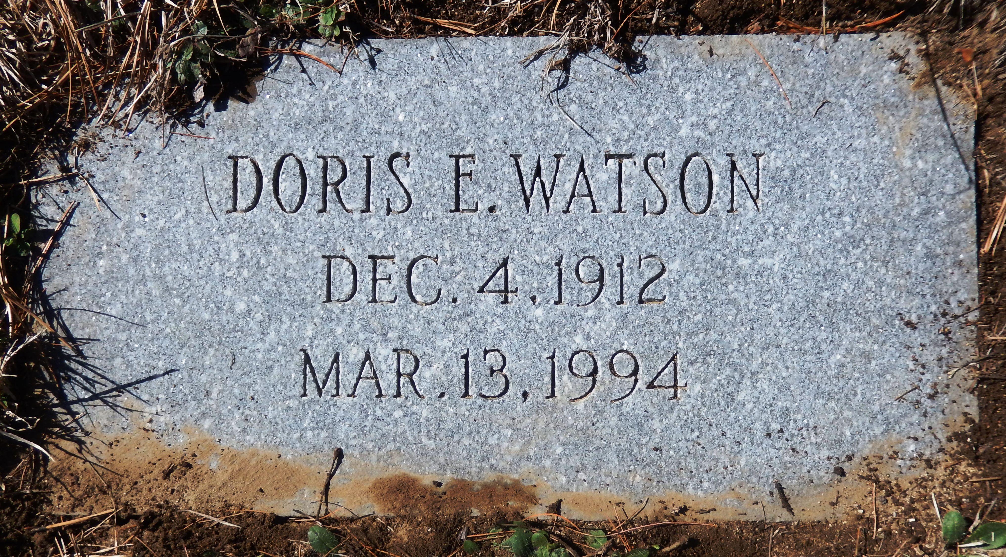 Doris Evelyn Watson