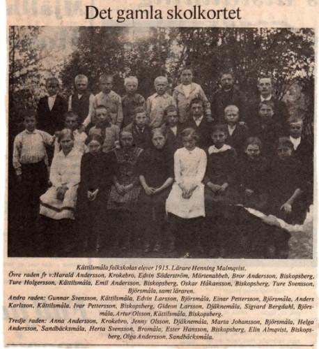 Artur i Kättilsmåla skola 1915!