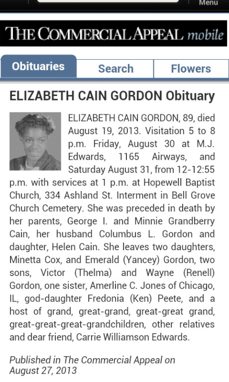 Sarah Elizabeth Cain