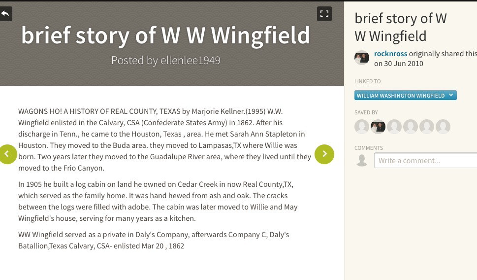 W G Wingfield