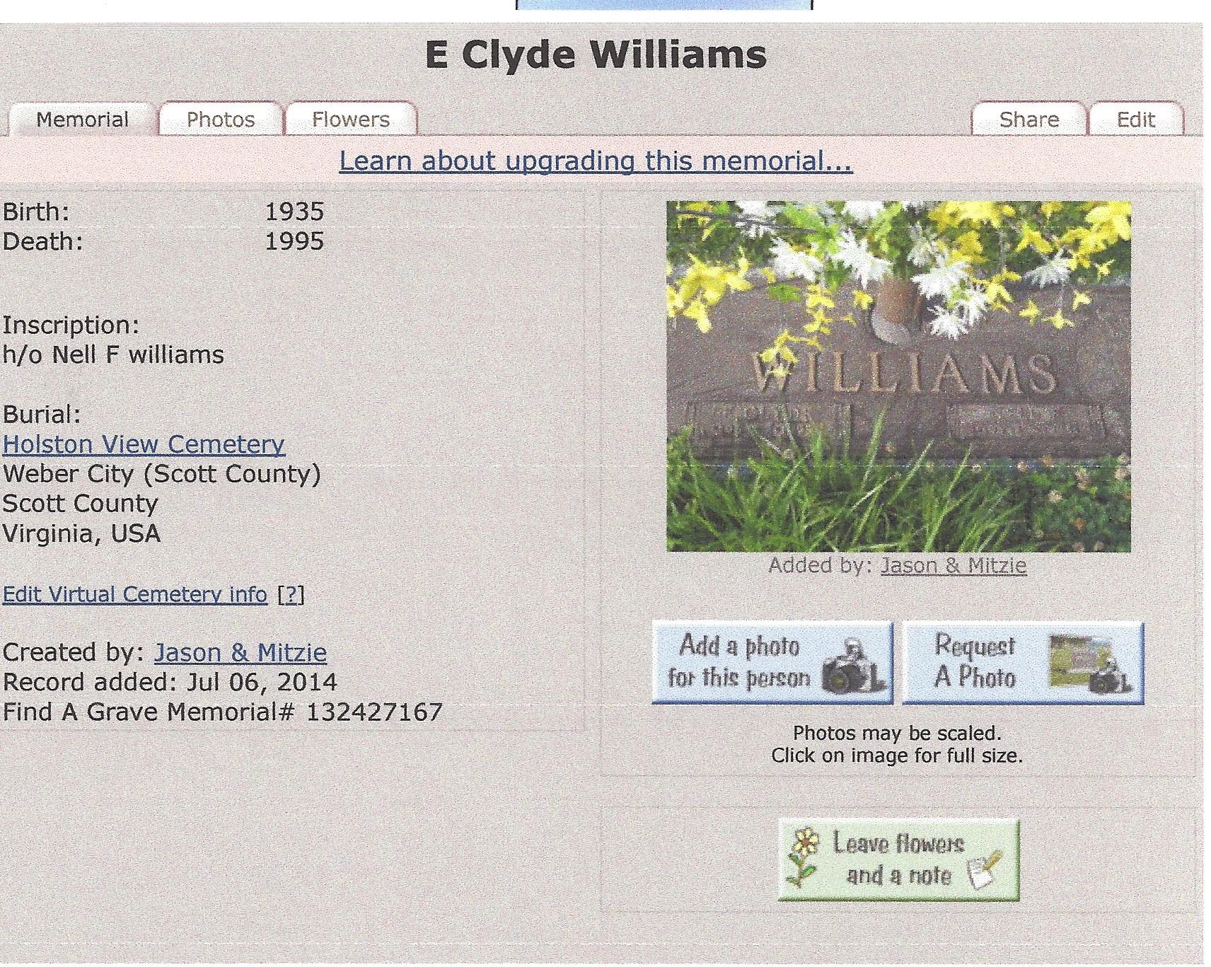 Clyde E Williams