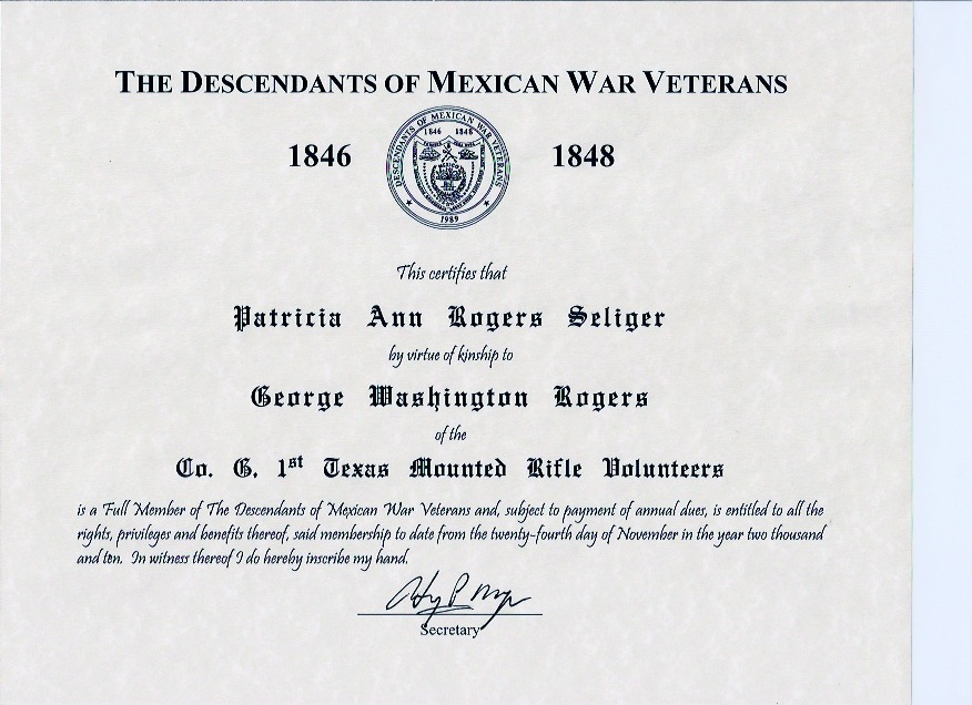 Descendants of Mexican War Veterans