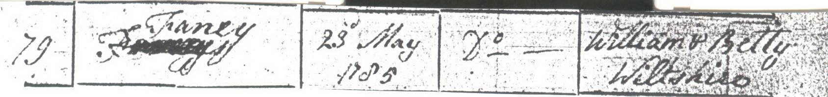 Fanny Wiltshire