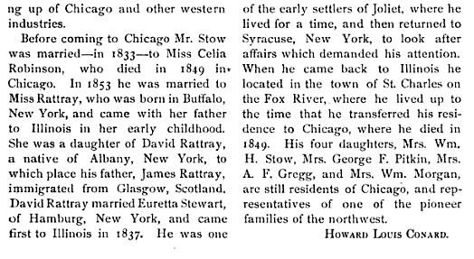 Horatio J Stow