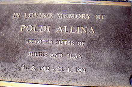 Poldi Allina grave marking