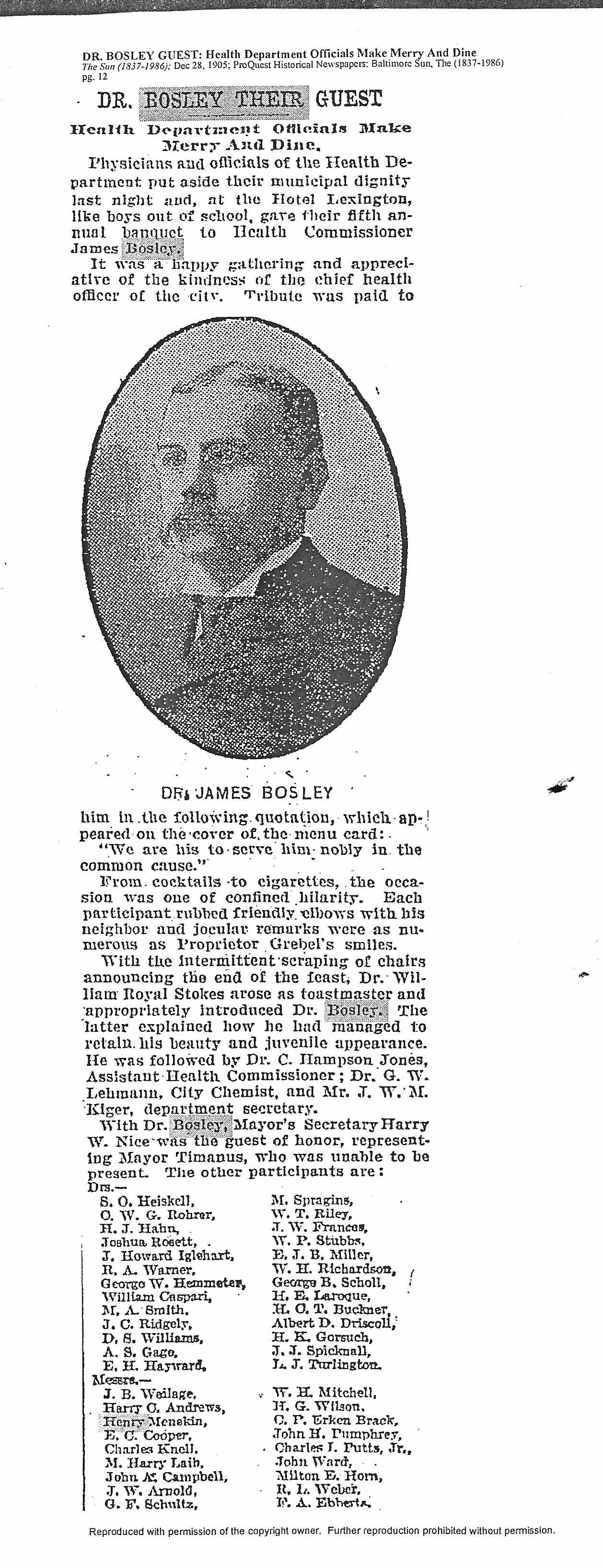 James Henry Bosley