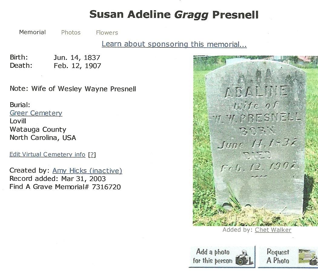 Susan Adeline Gragg