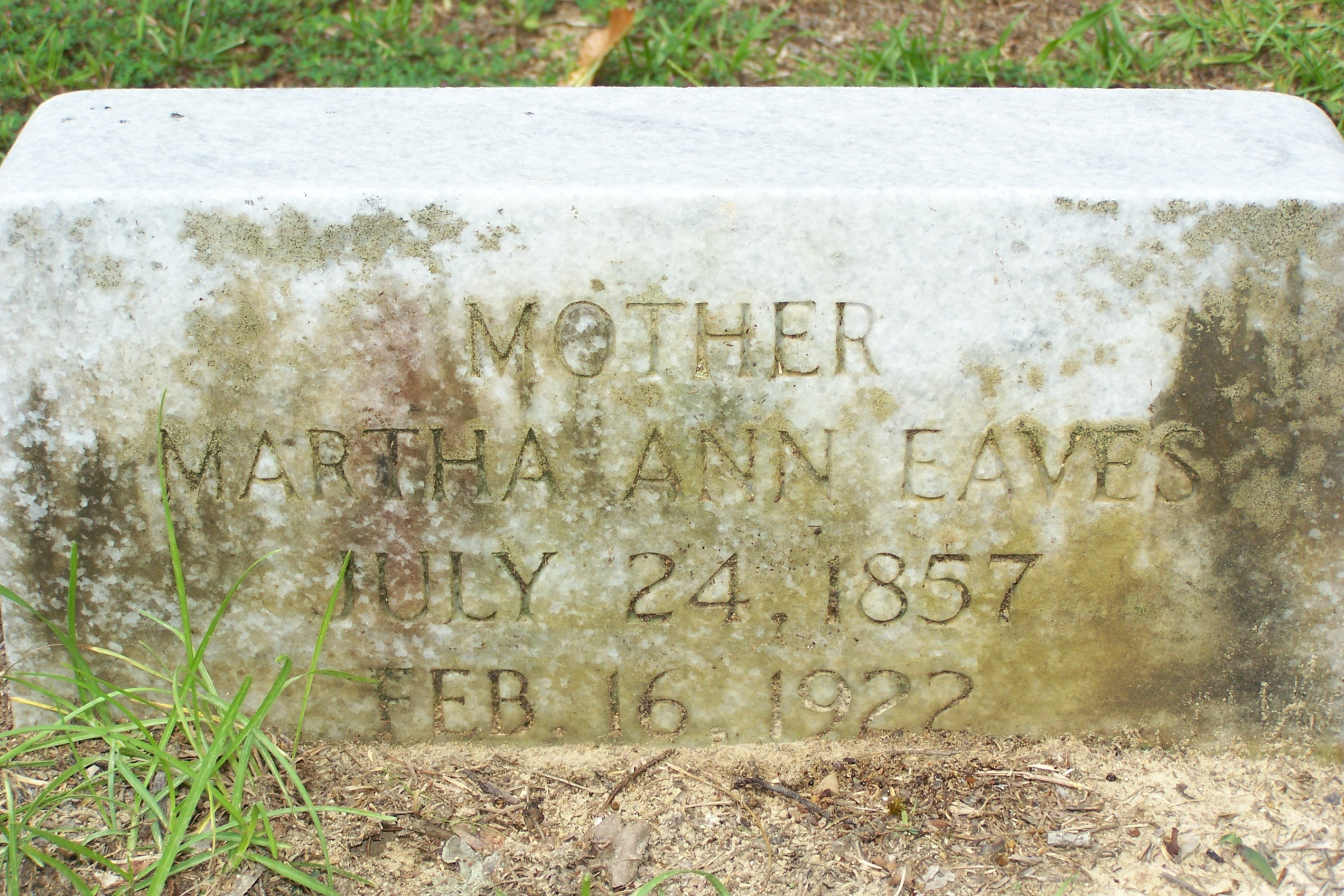 Mary Ann Eaves