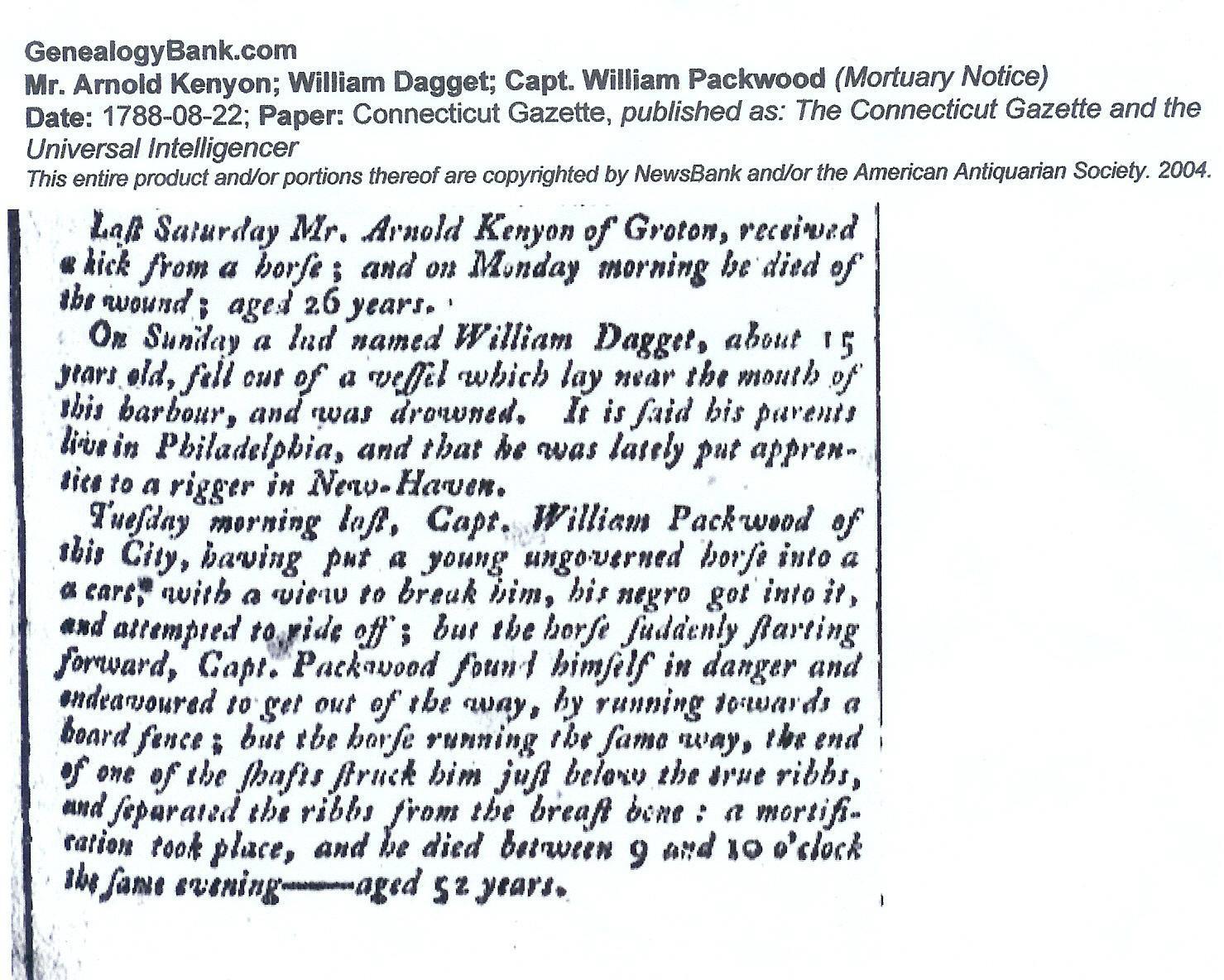 William H Packwood