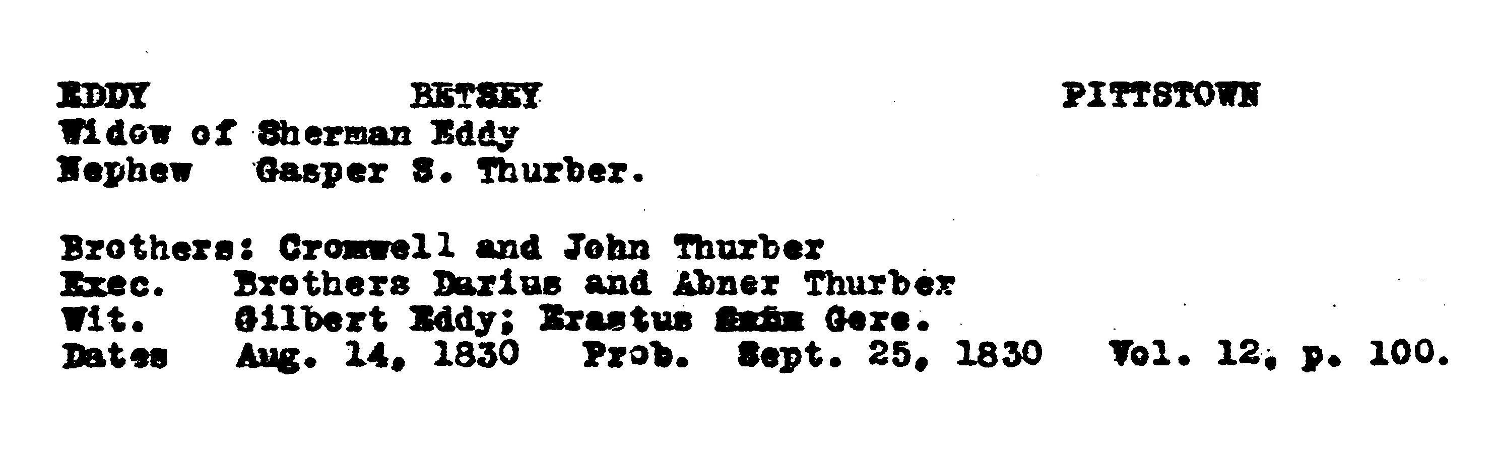 Abner Thurber