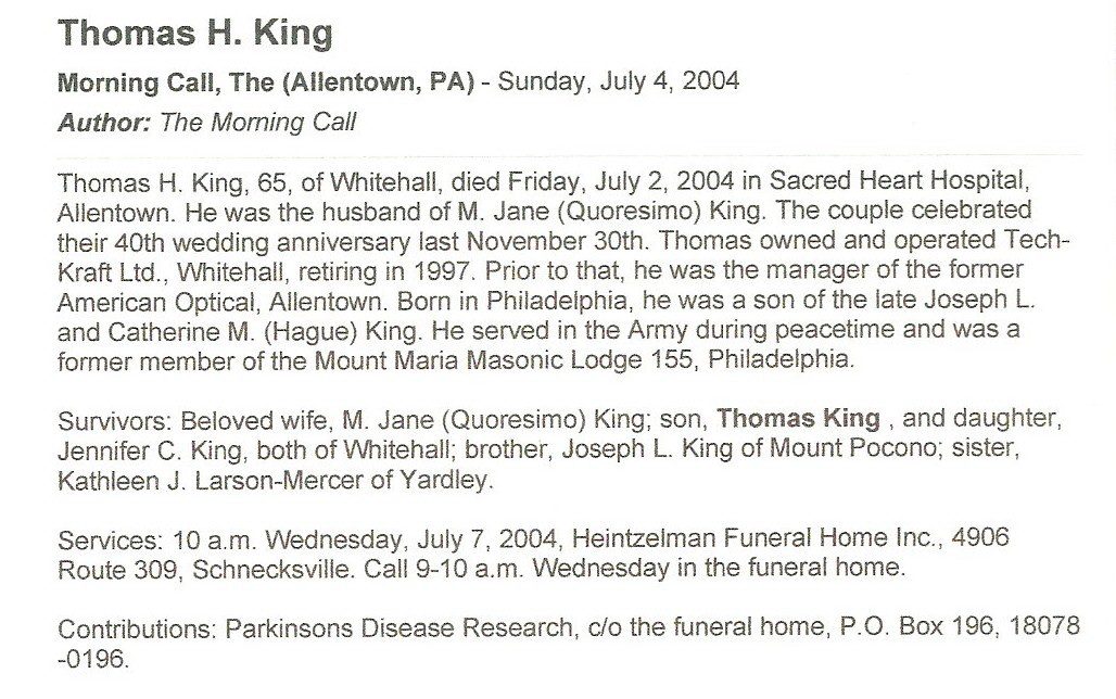 Thomas Holloway King