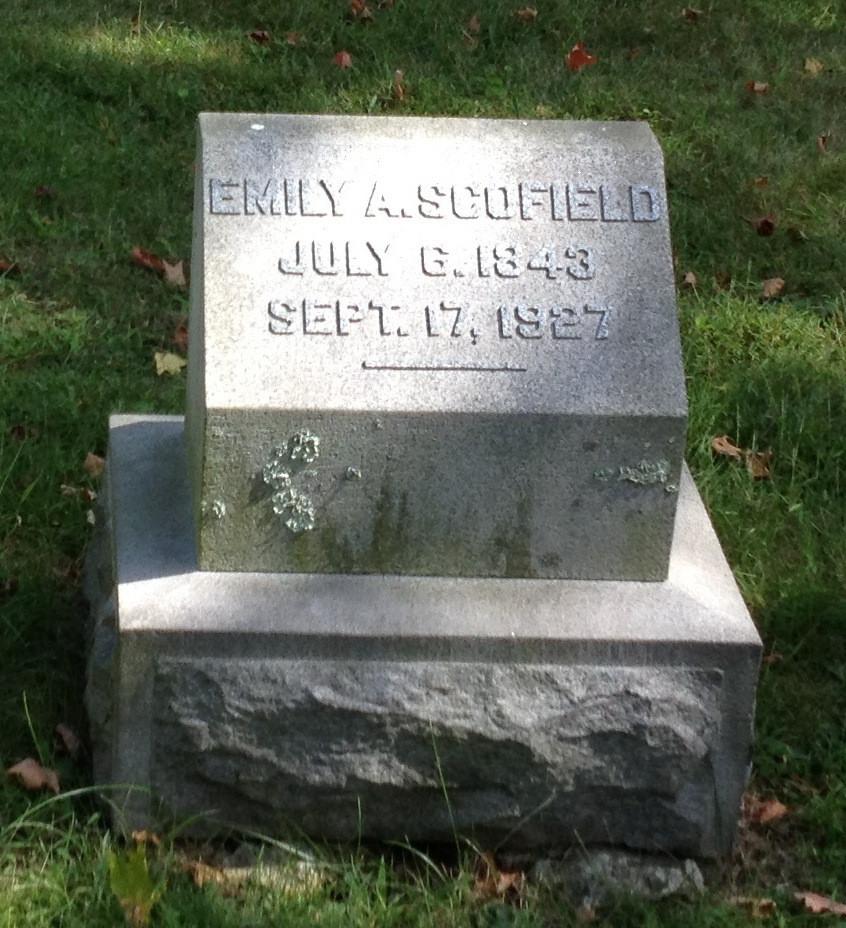 Emily Scofield headstone