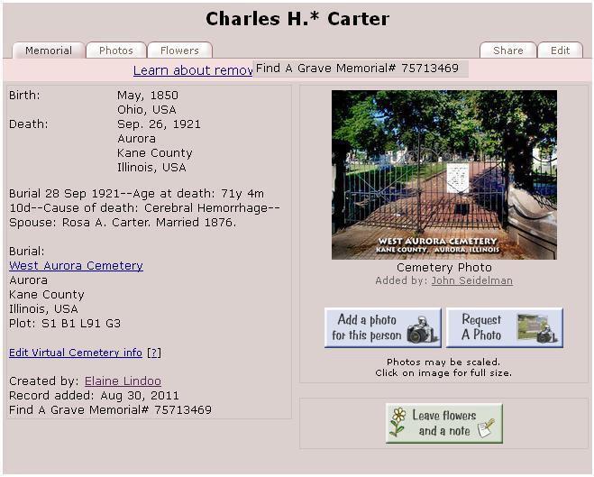 Charles Walcutt Carter