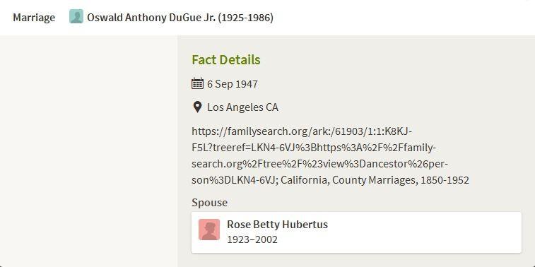 Oswald Anthony Dugue
