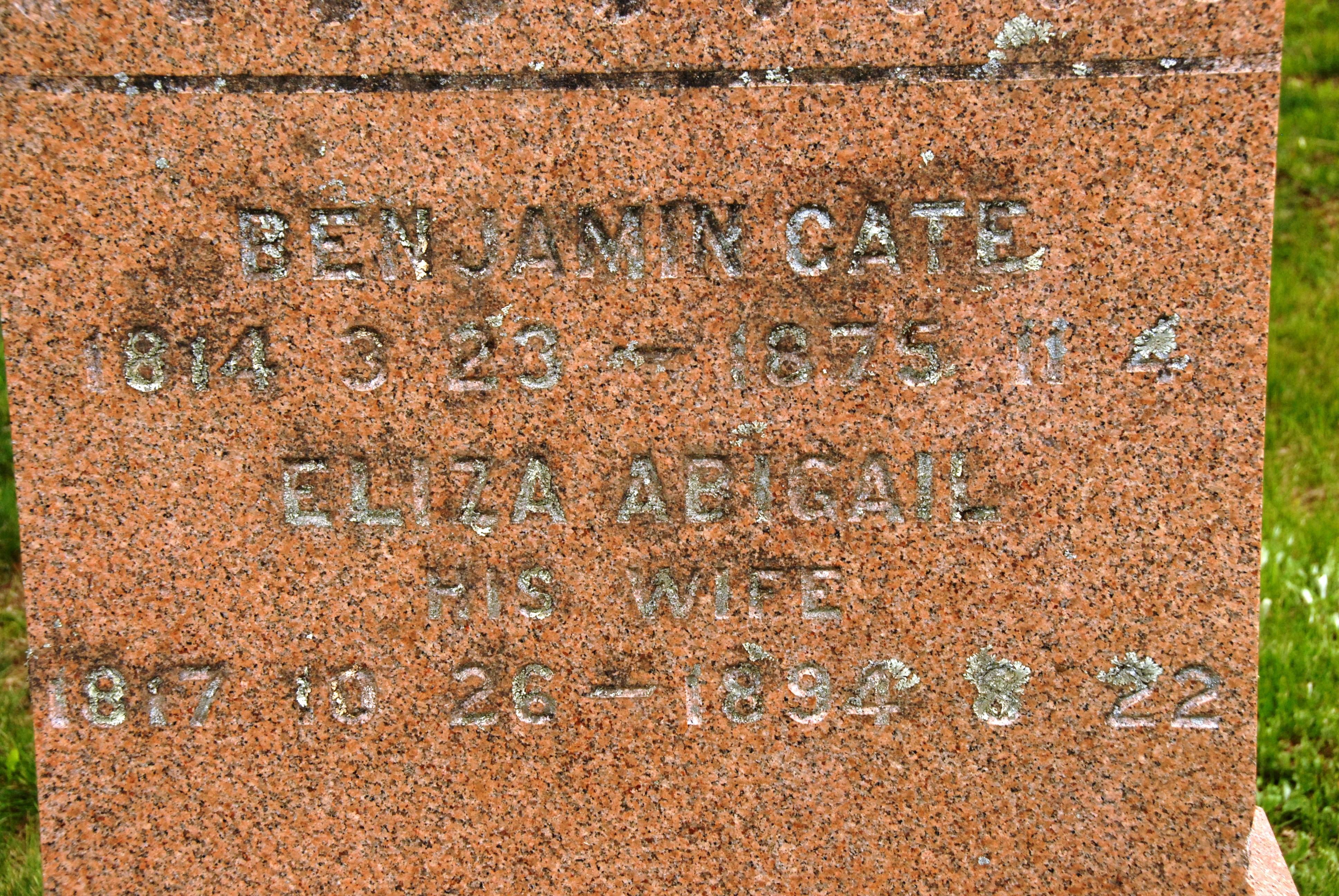 Benjamin F Cate