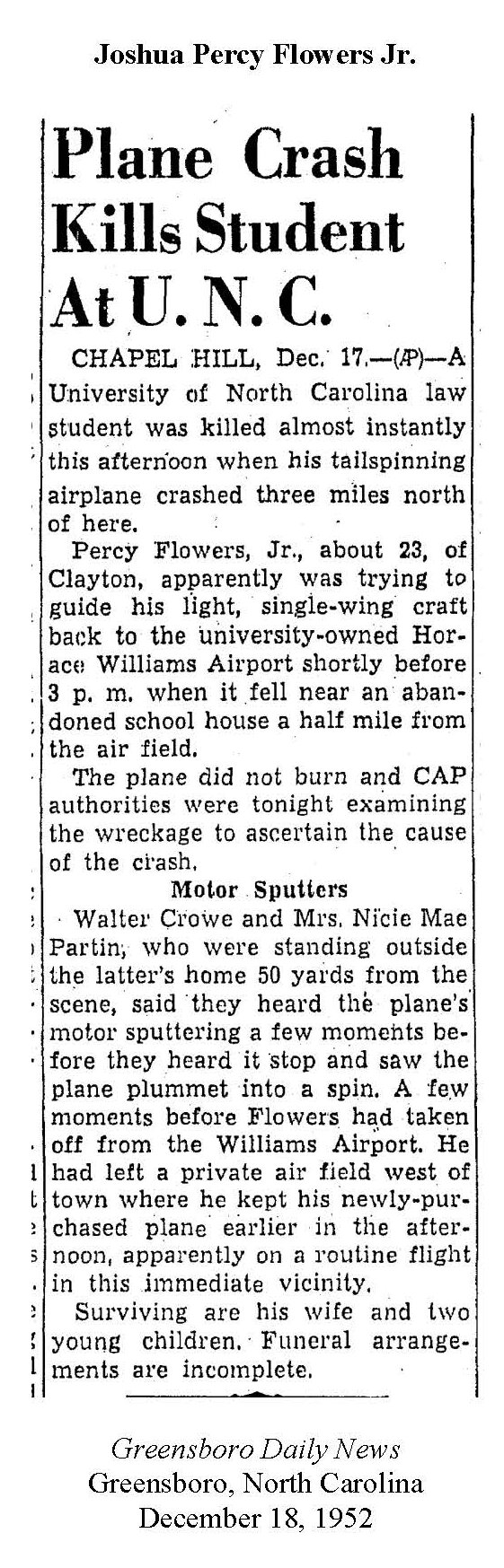 Percy Flowers