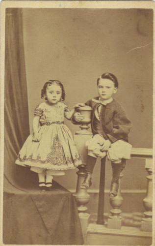 Mary E Jones and her brother Frank Jones