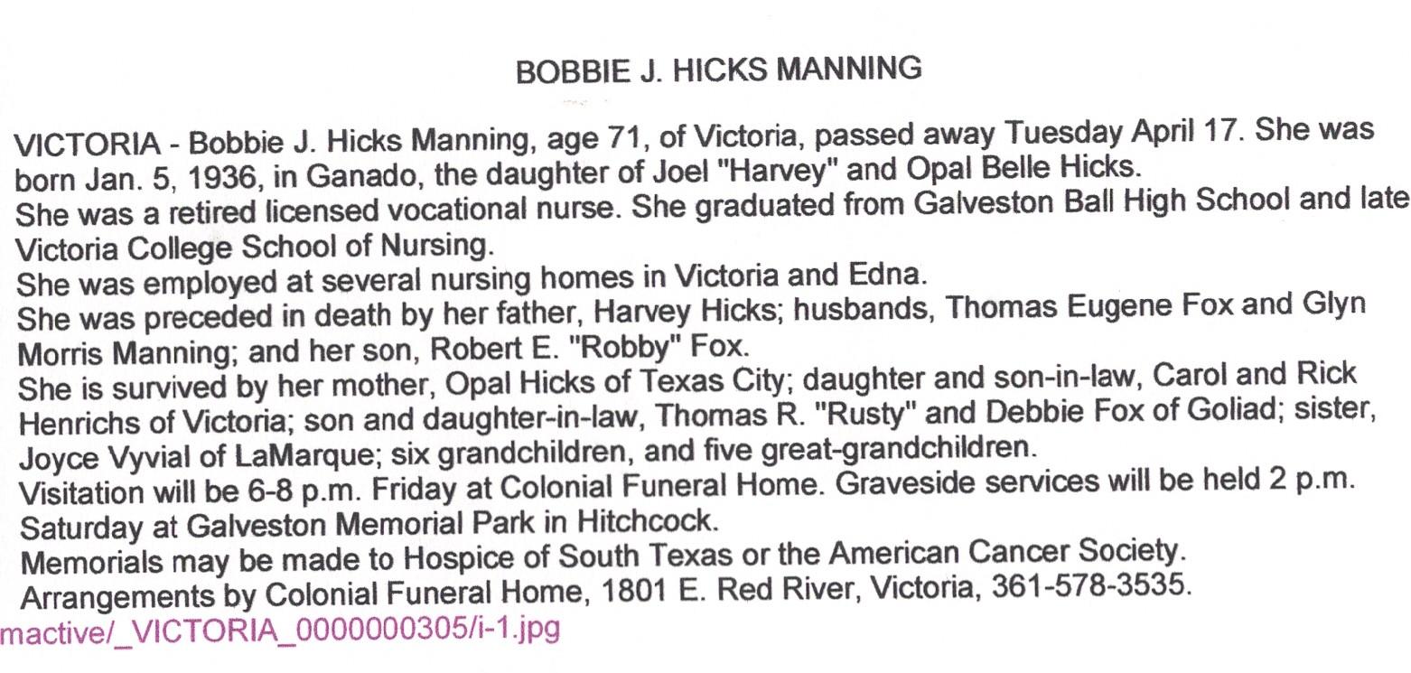 Bobbie Jean Hicks
