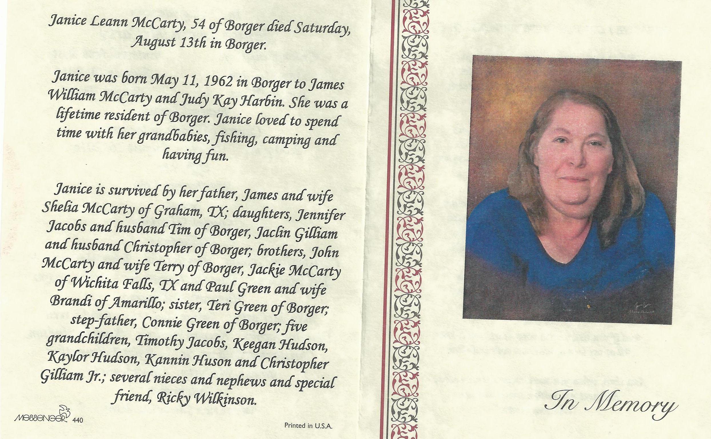 Janice Kay McCarty