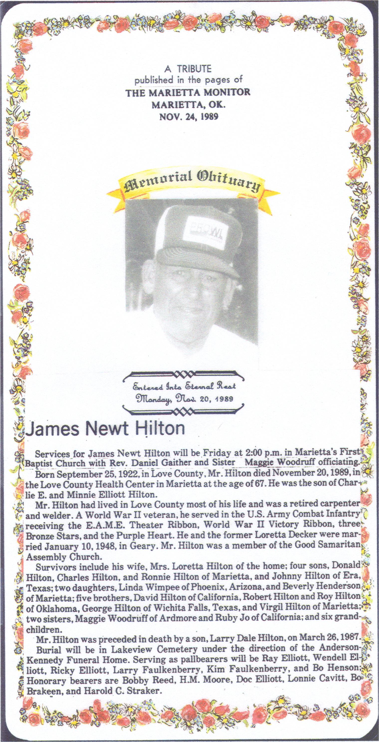 Newt Preston Hilton