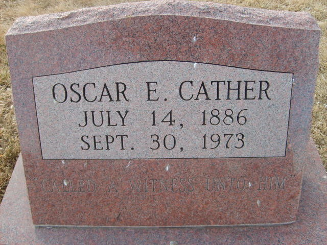 Oscar E Cather