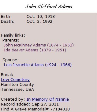 John Clifford Adams