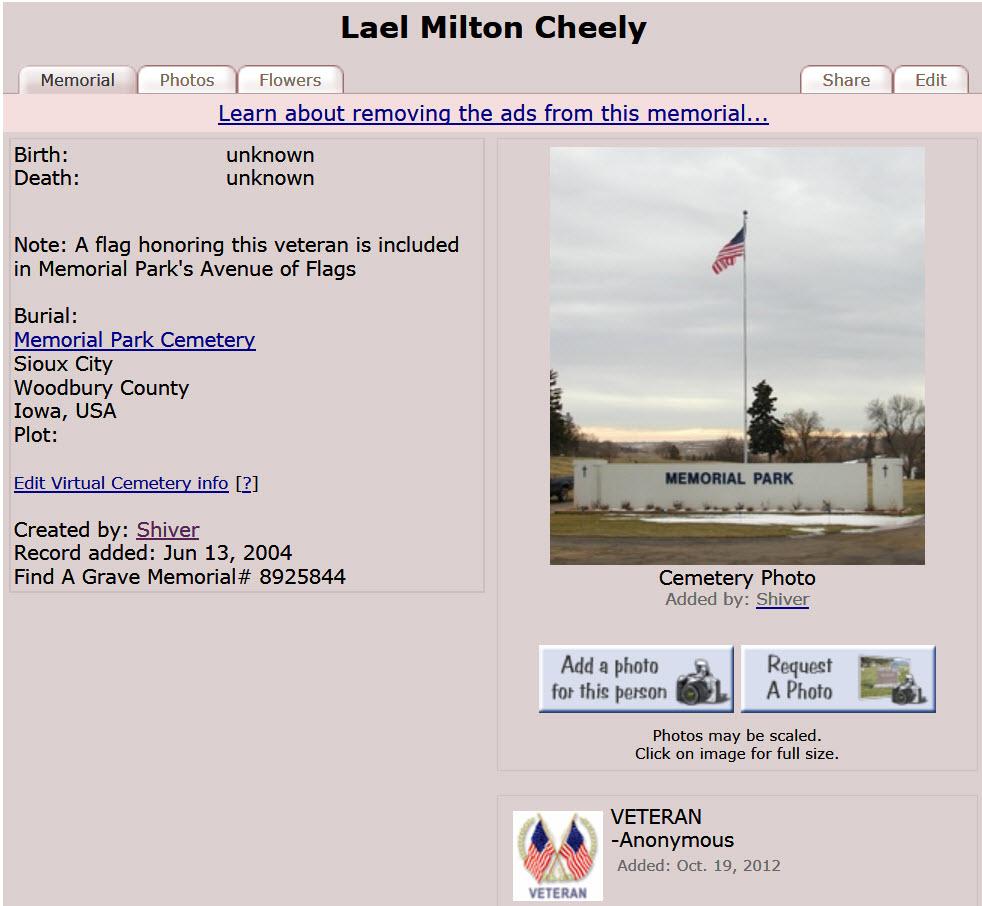 Lael Milton Cheeley